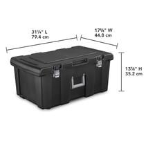 16 Gallon Sterilite Footlocker with Wheels, Black - $37.79