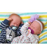 Reborn Baby Crying Twins Boy and Girl Preemie with Beautiful Accessories... - $323.53