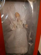 """Kurt Adler 12"""" LED Fiber Optic Angel Christmas Tree Topper Ivory and Gold UL2192 - $39.55"""