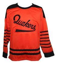 Custom Name # Philadelphia Quakers Retro Hockey Jersey New Orange Any Size image 3