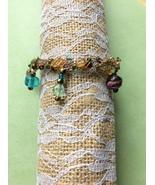 Crochet Wire Bracelet With Crystals & Lampwork ... - $39.99