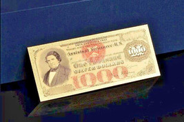 "<GEM>1878 ""GOLD""$1,000 DOLLAR Rep.* Old SERIES Banknote W/COA~STUNNING! - $11.19"