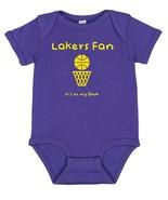 LA Los Angeles Lakers Basketball Fan It's in My DNA Baby Bodysuit Creeper  - $8.95