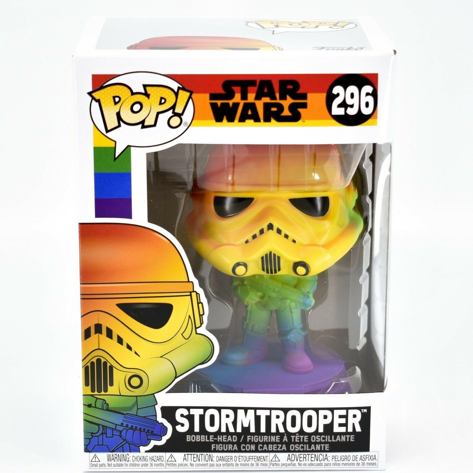 Funko Pop! Marvel Pride 2021 Rainbow Star Wars Stormtrooper #296 Vinyl Figure