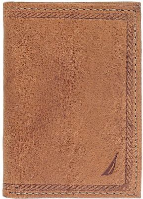 Nautica Men's Genuine Leather Trifold Credit Card ID Holder Wallet 31NU11X026
