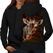 Giraffe Face Look Sweatshirt Hoody African Animal Women Hoodie Back - $21.99+
