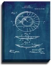 Miner's Gold-pan Patent Print Midnight Blue on Canvas - $39.95+