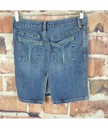 Abercrombie & Fitch Womens Denim Skirt Size 4 Distressed Slit - $16.83