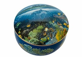 Danbury Mint Music Box Blue Hawaii Tropical Wonderland Robert Nelson Dol... - $39.55