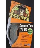 GORILLA TAPE 1 INCH X 30 FEET Heavy Duty Black Duct Tape #6100102 - $4.94