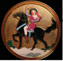 Jessica Rabbit on horse LE 250 Authentic  Disney Badge Series pin on card - $150.00