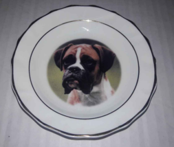 "Boxer Dog Mini Collectible Plate 4 3/4"" Diameter Faithful Friends  - $5.64"