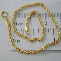 18K YELLOW GOLD BRACELET, 2 MM BRAID ROPE MESH, 7.30 INCHES LONG, MADE I... - $87.03