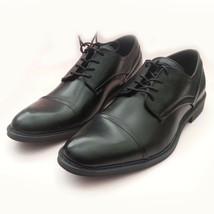 Calvin Klein Men Dress Shoes Size 10 M Cap-toe Lace Up Oxford Leather Bl... - $84.39