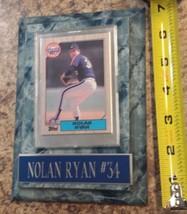 NOLAN RYAN plaque 1987 baseball card mounted TOPPS 757 collectible legen... - $18.51