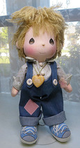 PRECIOUS MOMENTS 15'' Doll overalls boy The world's Children - $15.00