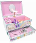 Unicorn Music Box & Little Girls Jewelry Set - 3 Unicorn Gifts for Girls - $44.99