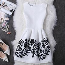 Sleeveless Cotton Printed Pleated Women Mini Dress - $19.29