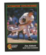 Jim Abbott 1994 Score Tombstone Pizza Card #16 New York Yankees Free Shi... - $1.25