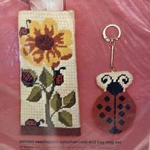 Vintage Ladybug Eyeglass Case Key ring Needlepoint Kit 4604 Sunflower - $19.72