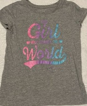 Childrens Place Toddler Girl Graphic T-Shirt Grey *SIZE 5T* - $7.87