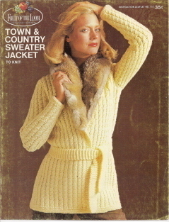 Town and Country Sweater Jacket Nordic Sweater Jacket Patter