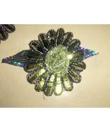 Lime Green Sequined Applique Flower Handmade - $4.95