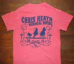 Roping For Hoot 2009 Chris Heath Memorial / Buffalo Tx / Orange T-SHIRT Size S - $24.99