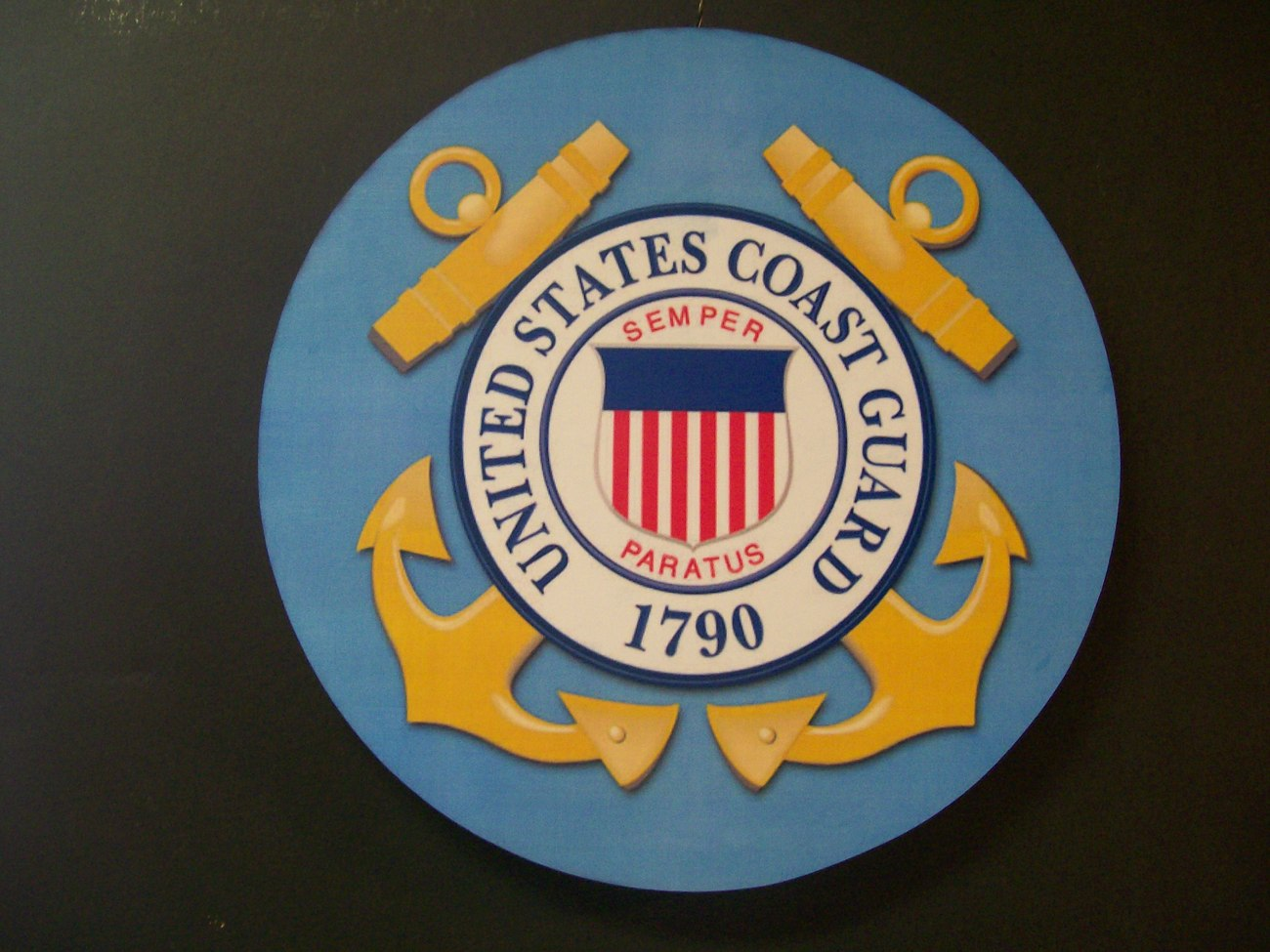 UNITED STATES COAST GUARD WALL PLAQUE