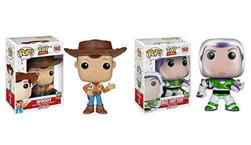 Funko POP Disney Toy Story 20th Anniversary Edition Buzz Lightyear and Woody 2 P
