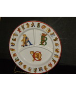 Childs Plate Divided Alphabet Bears Tiffany And... - $14.99