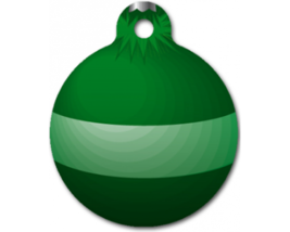 Green Ornament - Pet ID Tag for Dogs or Cats - ... - $11.99
