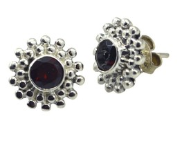jewelry 925 Sterling Silver gorgeous Natural Red Earring gift UK - $11.13
