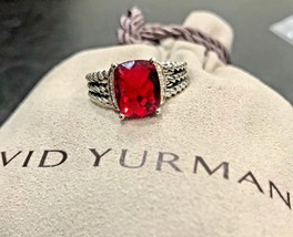 DAVID YURMAN RING PETITE WHEATON GARNET AND DIAMOND SIZE - 6 - $299.99