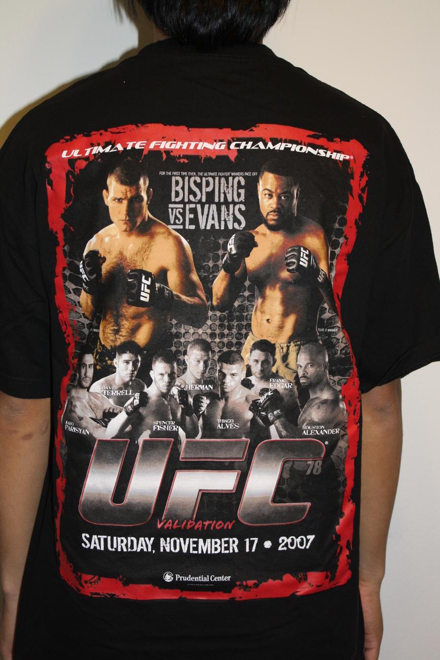 UFC VALIDATION '78 BISPING vs EVANS T-shirt XL