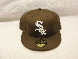 Chicago White Sox brown with white pop up embroidery size 7 1/4 New Era ... - $23.75