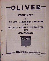 Oliver 202, 402 Planters Parts Manual - Original - $14.00