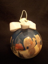 1992 PRECIOUS MOMENTS Christmas ornament ball NICE - $3.97