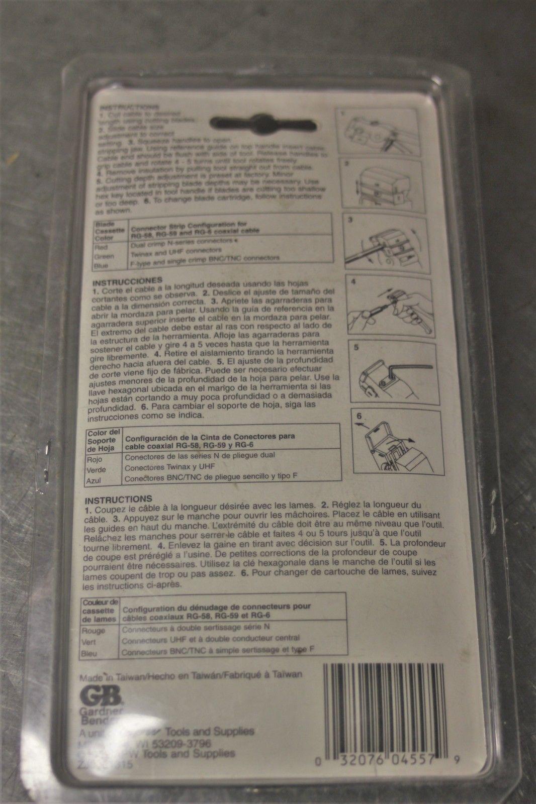 GB Coaxial Cable Stripper SE-98RGB