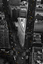 "New York City Aerial Photography Black and White Wall Decor - ""Cabs & Co... - $110.00"