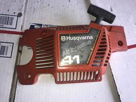 OEM Husqvarna 41 Chainsaw Starter Side Cover w/ Extras Fits 136 141 also - $12.99