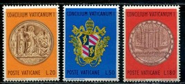 First Vatican Council Set of 3 1970 Vatican Stamps Catalog Number 484-86 MNH