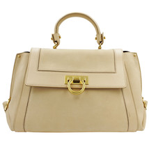 Salvatore Ferragamo 21-A896 Sofia Quarzo fume Leather Women's Bag - $999.00