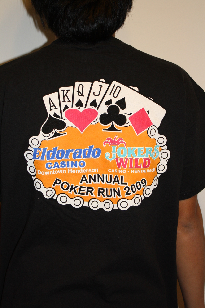 HARLEY DAVIDSON ELDORADO JOKERS WILD Annual Poker Run 09 T-s