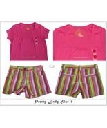 NWT Gymboree Pretty Lady Shorts Smocked PinkTop Set Sz 4 - $20.99