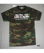Camo Rifle for my Wife Tee Shirt Size Adult Medium NWOT - $10.99