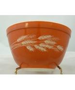 Vintage Pyrex Orange Wheat Stack Mixing Bowl Small 401 - $5.00