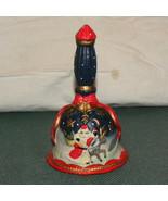 Christnas Bell Bisque Yuletide Decor Red Blue W... - $10.00