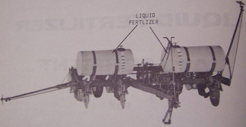 Oliver Liquid Fertilizer Attachments for Planters Parts & Operator's Manual