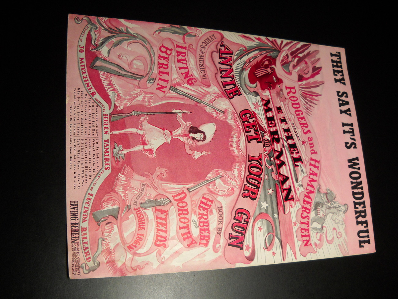 Sheet music they say it s wonderful annie get your gun 1946 irving berlin music  01